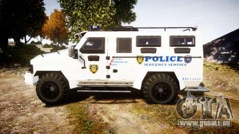SWAT Van Police Emergency Service pour GTA 4 est une gauche
