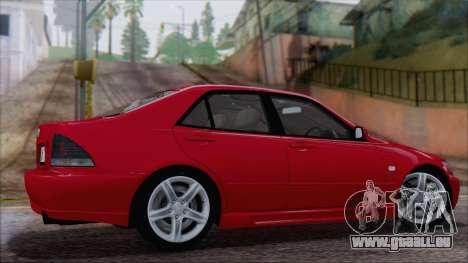 Toyota Altezza (RS200) 2004 (IVF) pour GTA San Andreas laissé vue
