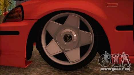 Honda Civic 34 VB 8884 für GTA San Andreas zurück linke Ansicht
