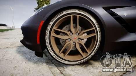 Chevrolet Corvette C7 Stingray 2014 v2.0 TireBr3 für GTA 4 Rückansicht