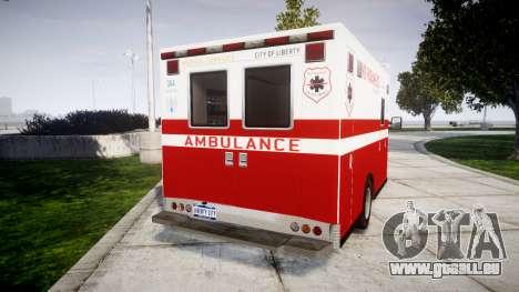 Vapid V-240 Ambulance pour GTA 4 Vue arrière de la gauche