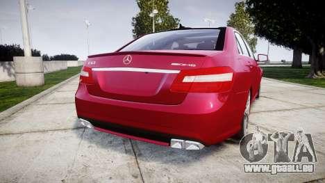 Mercedes-Benz E63 AMG pour GTA 4 Vue arrière de la gauche