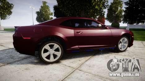 Chevrolet Camaro SS [ELS] Unmarked runners für GTA 4 linke Ansicht