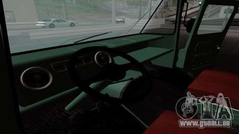 Zuk A06 pour GTA San Andreas vue intérieure