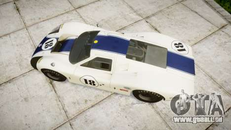 Ford GT40 Mark IV 1967 PJ 18 pour GTA 4 est un droit