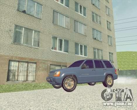 Jeep Grand Cherokee ZJ pour GTA San Andreas sur la vue arrière gauche