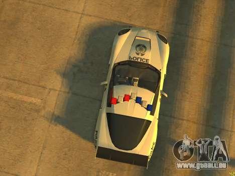 Chevrolet Corvette Z06 Police pour GTA 4 Vue arrière