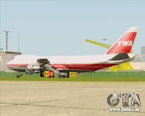 Boeing 747-100 Trans World Airlines (TWA) pour GTA San Andreas vue de droite