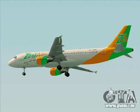 Airbus A320-200 Zest Air für GTA San Andreas Rückansicht