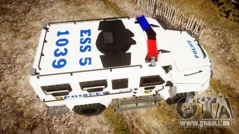 SWAT Van Police Emergency Service pour GTA 4 est un droit