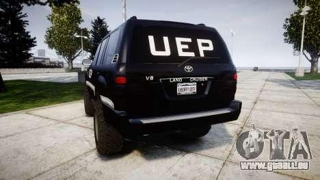 Toyota Land Cruiser 100 UEP [ELS] für GTA 4 hinten links Ansicht