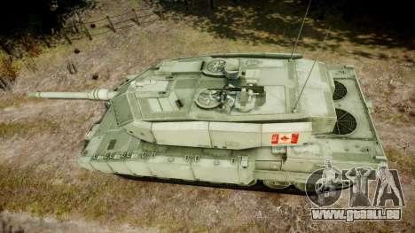 Leopard 2A7 CA Green pour GTA 4 est un droit