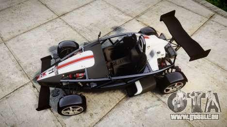 Ariel Atom V8 2010 [RIV] v1.1 FUEA Equipped für GTA 4 rechte Ansicht