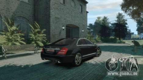 Mercedes-Benz W221 S63 AMG pour GTA 4 Vue arrière de la gauche