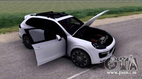 Porsche Cayenne Turbo S GTS 2015 pour GTA San Andreas vue intérieure