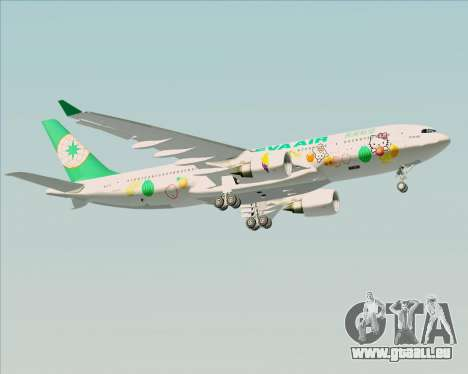 Airbus A330-200 EVA Air (Hello Kitty) für GTA San Andreas Unteransicht