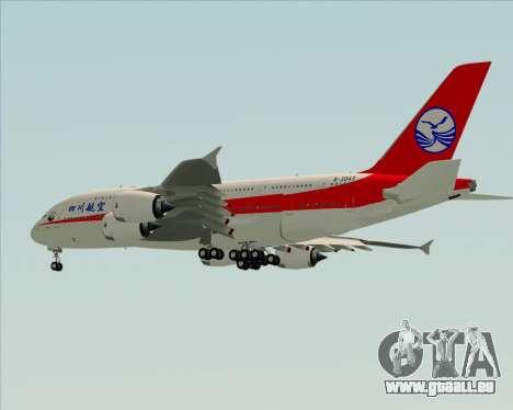 Airbus A380-800 Sichuan Airlines pour GTA San Andreas vue de côté