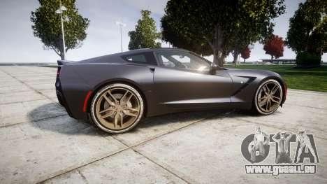 Chevrolet Corvette C7 Stingray 2014 v2.0 TireBr3 für GTA 4 linke Ansicht