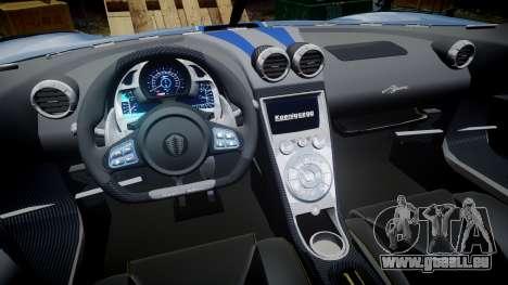 Koenigsegg Agera 2011 [EPM] [Update] für GTA 4 Rückansicht
