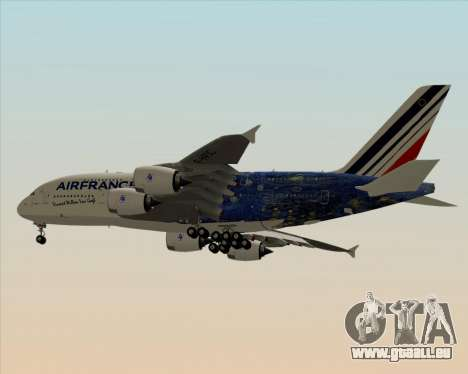 Airbus A380-800 Air France für GTA San Andreas rechten Ansicht