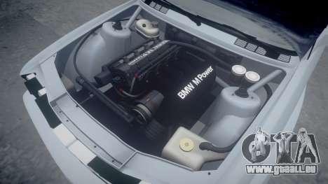 BMW M3 E30 1991 [EPM] pour GTA 4 vue de dessus