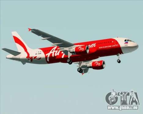 Airbus A320-200 Air Asia Philippines pour GTA San Andreas vue de côté