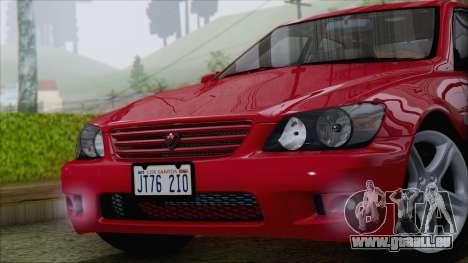 Toyota Altezza (RS200) 2004 (IVF) pour GTA San Andreas vue de droite