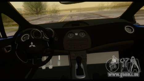 Mitsubishi Eclipse 2006 pour GTA San Andreas vue de dessus