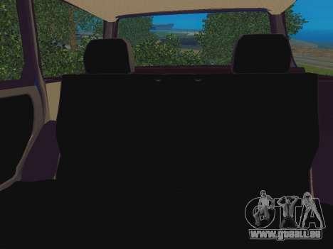 La VAZ-2109 Immobilier pour GTA San Andreas vue arrière