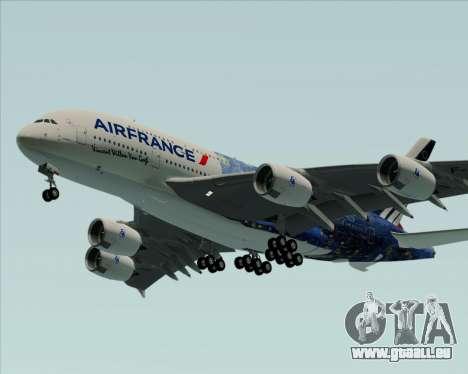 Airbus A380-800 Air France für GTA San Andreas Rückansicht