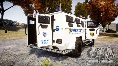 SWAT Van Police Emergency Service [ELS] für GTA 4 hinten links Ansicht