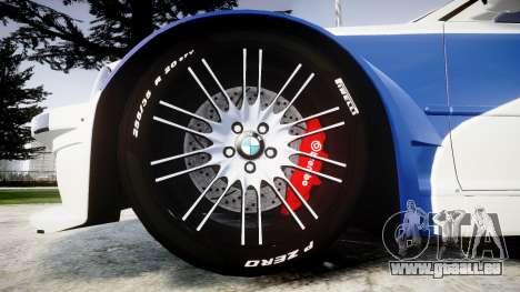 BMW M3 E46 GTR Most Wanted plate NFS Pro Street pour GTA 4 Vue arrière