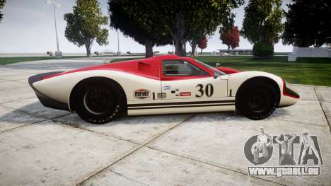 Ford GT40 Mark IV 1967 PJ Meyer 30 für GTA 4 linke Ansicht