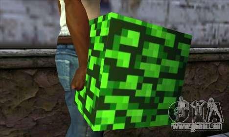 Bloc (Minecraft) v12 pour GTA San Andreas troisième écran