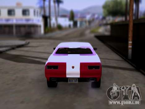 Bravado Gauntlet GTA 5 pour GTA San Andreas sur la vue arrière gauche