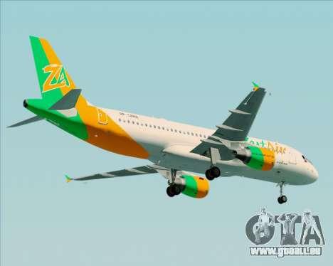 Airbus A320-200 Zest Air für GTA San Andreas Seitenansicht