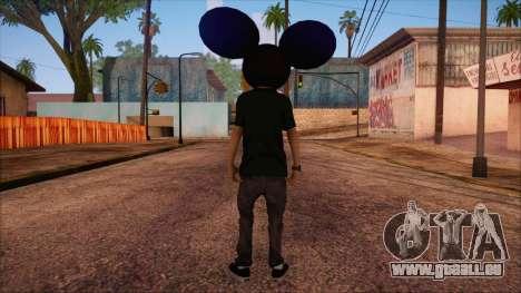 Deadmau5 Skin für GTA San Andreas zweiten Screenshot