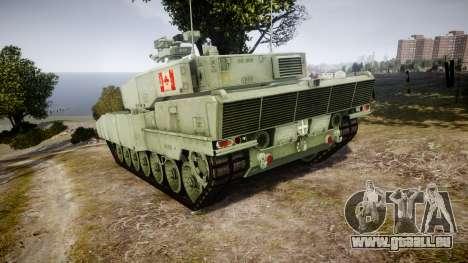 Leopard 2A7 CA Green pour GTA 4 Vue arrière de la gauche