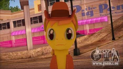 Braeburn from My Little Pony pour GTA San Andreas troisième écran