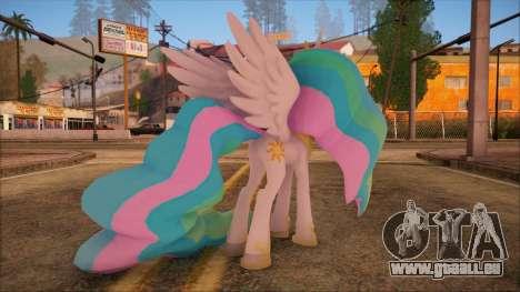 Celestia from My Little Pony pour GTA San Andreas deuxième écran