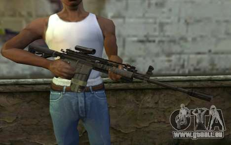 M4A1 from COD Modern Warfare 3 v2 pour GTA San Andreas troisième écran