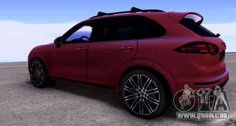 Porsche Cayenne Turbo S GTS 2015 pour GTA San Andreas laissé vue