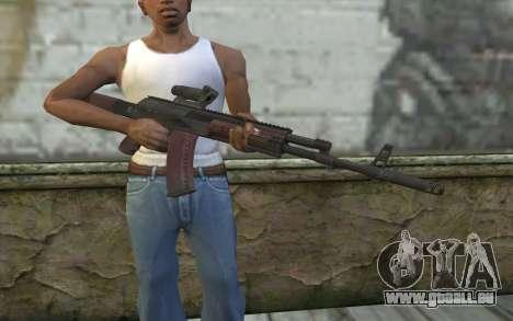AEK from Battlefield 4 pour GTA San Andreas troisième écran