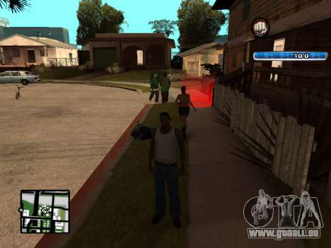 C-HUD by SampHack v.17 pour GTA San Andreas troisième écran