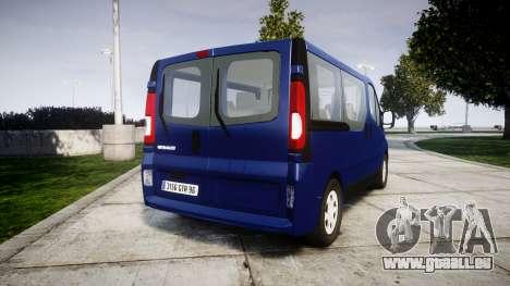 Renault Trafic Passenger für GTA 4 hinten links Ansicht