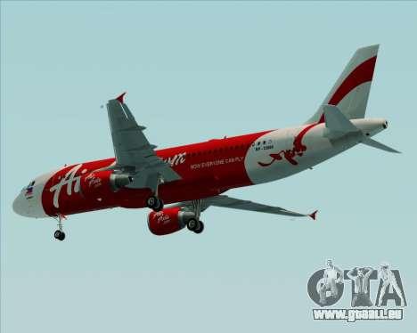 Airbus A320-200 Air Asia Philippines für GTA San Andreas Rückansicht
