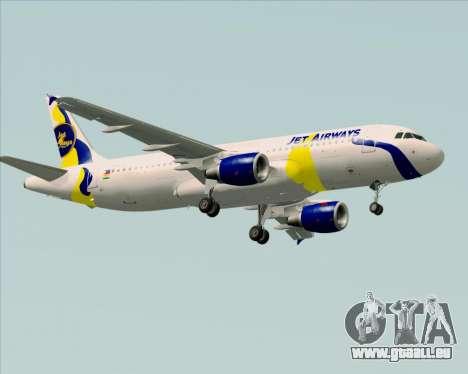 Airbus A320-200 Jet Airways für GTA San Andreas rechten Ansicht
