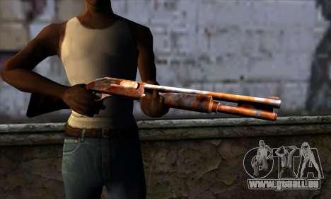Chromegun v2 Rouillé pour GTA San Andreas troisième écran