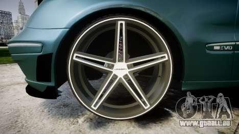 Mercedes-Benz W211 E55 AMG Vossen VVS CV5 pour GTA 4 Vue arrière