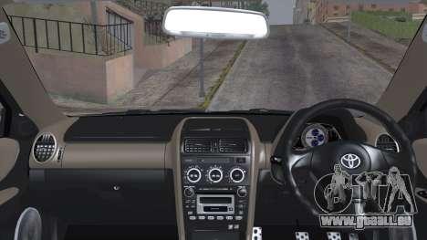 Toyota Altezza (RS200) 2004 (IVF) pour GTA San Andreas sur la vue arrière gauche